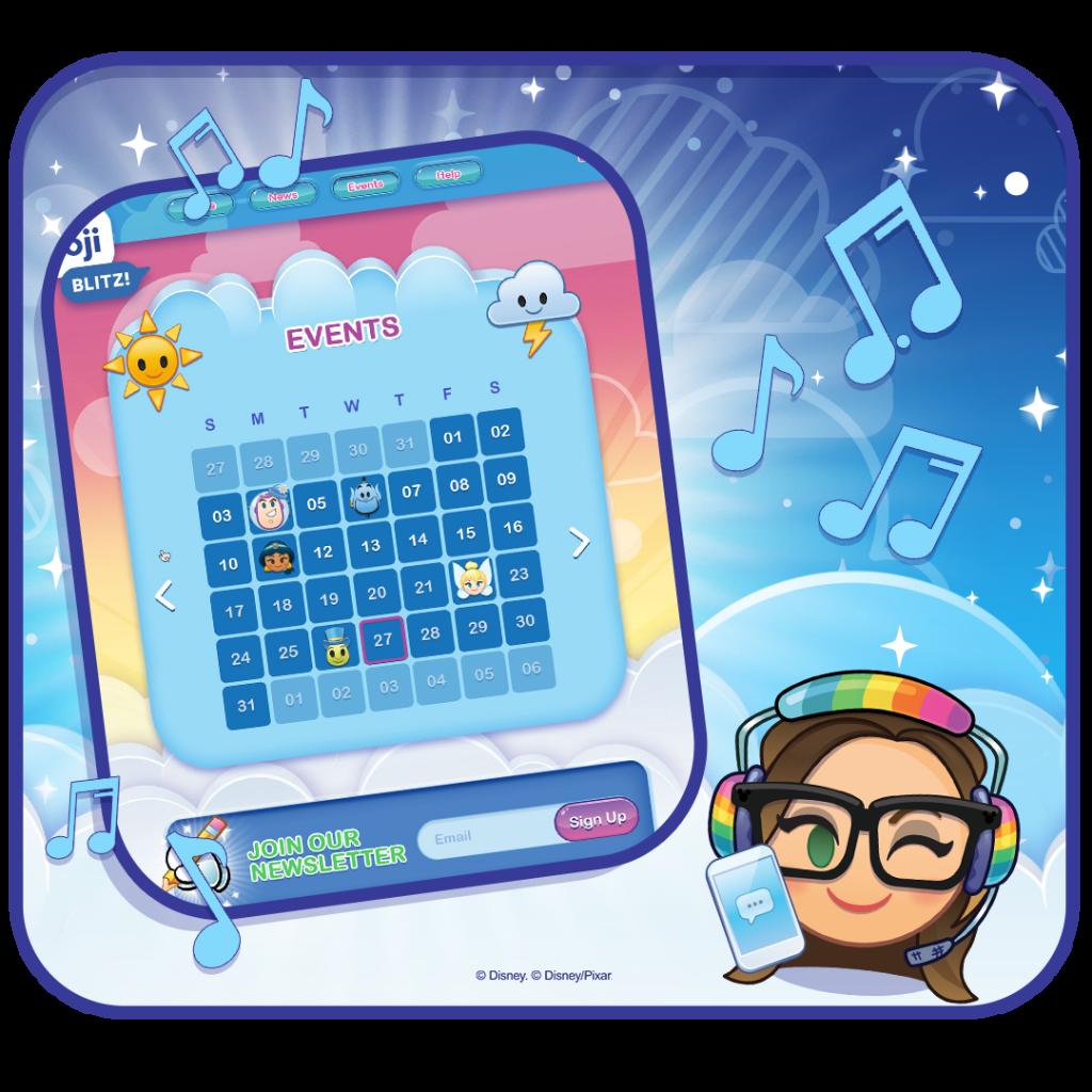 Event Calendar on September 2020 in Disney Emoji Blitz