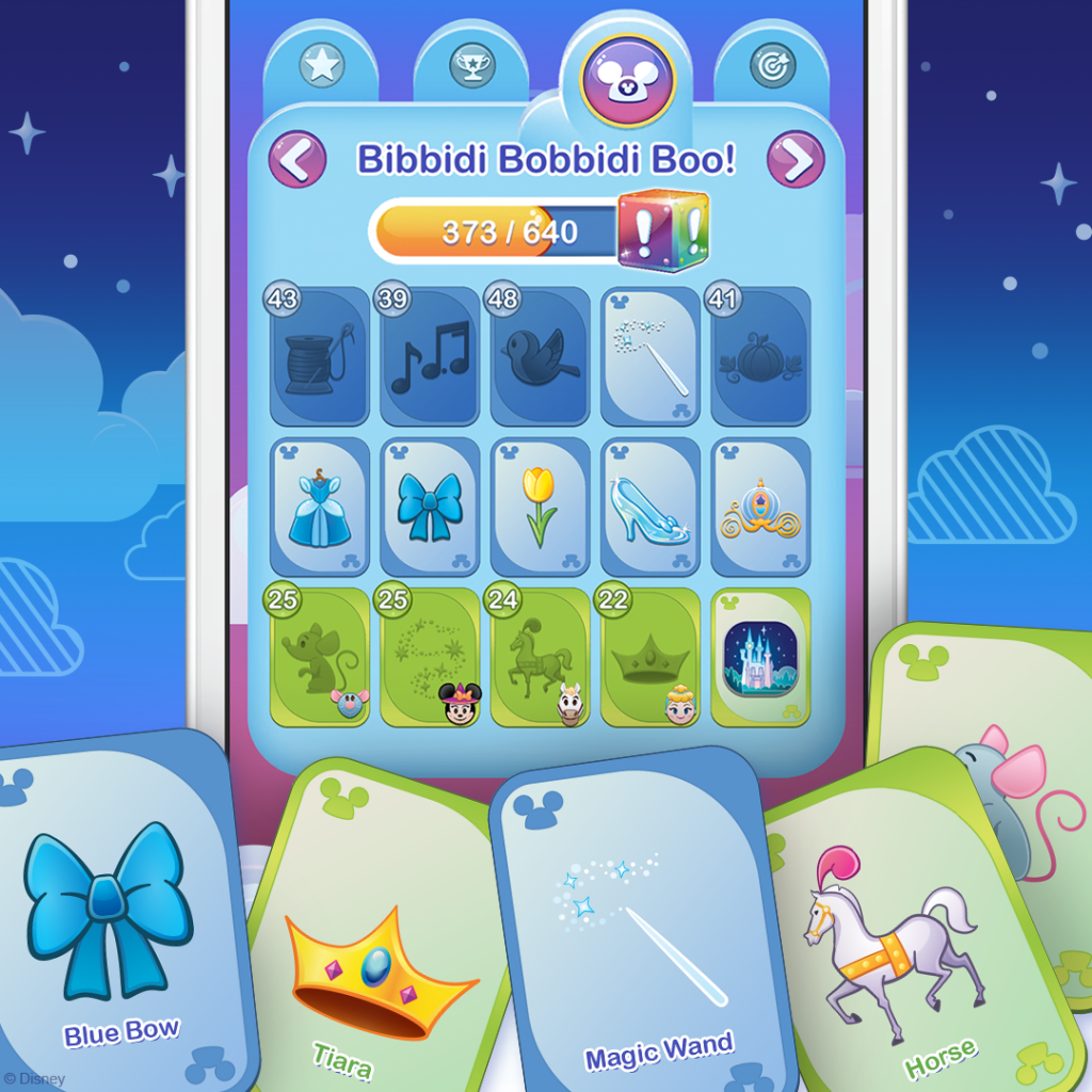 Item Card Collections - Disney Emoji Blitz - screenshot