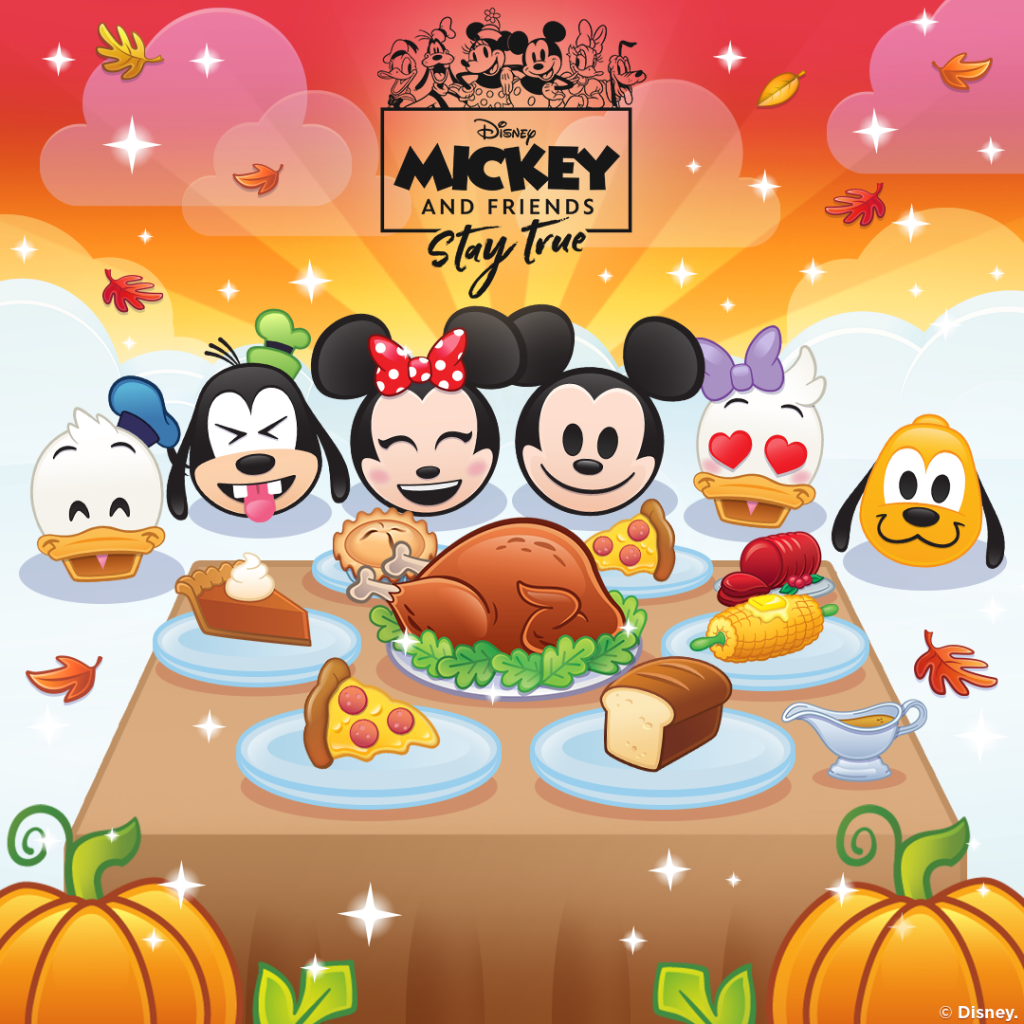 Mickey and Friends(giving) with Disney Emoji Blitz