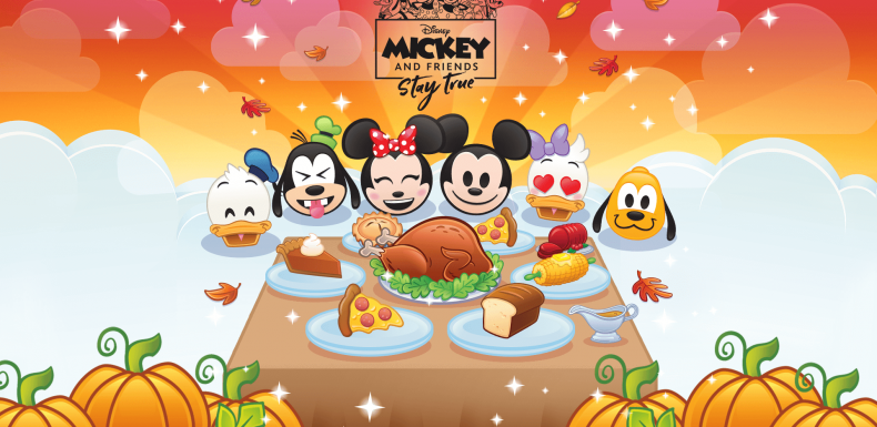 Mickey and Friends(giving) in Disney Emoji Blitz