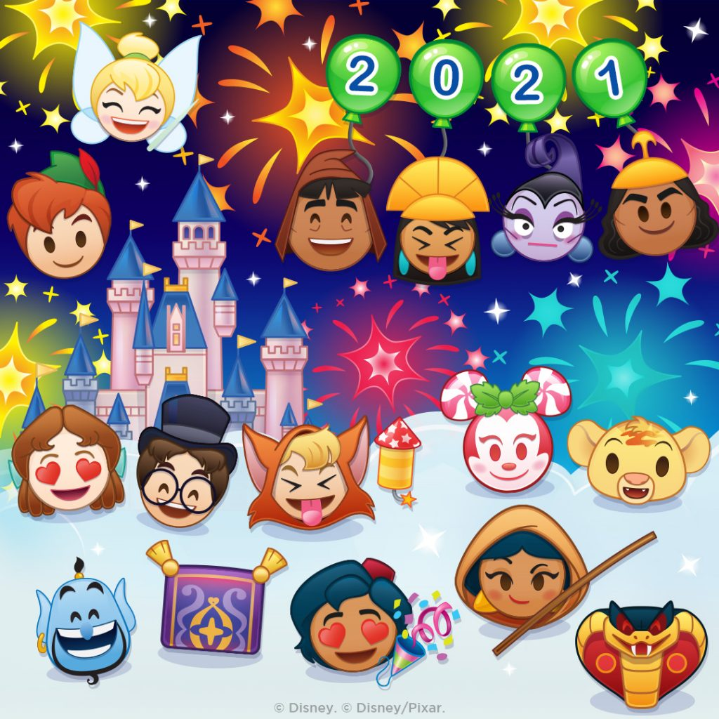 January 2021 - New Emojis and Events - Disney Emoji Blitz