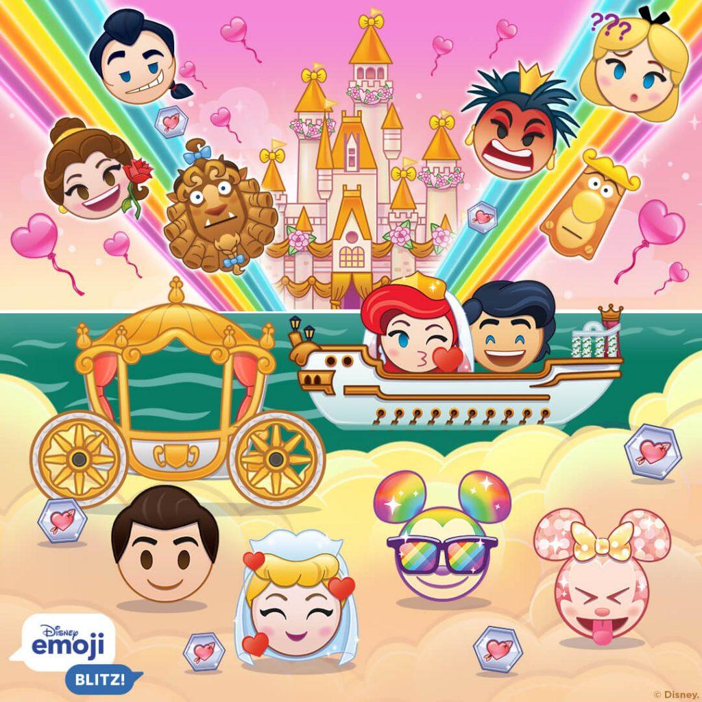 February Emojis, Disney Emoji Blitz