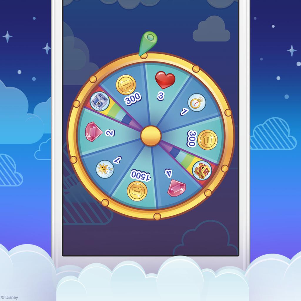Prize Wheel, Free stuff 101, Disney Emoji Blitz