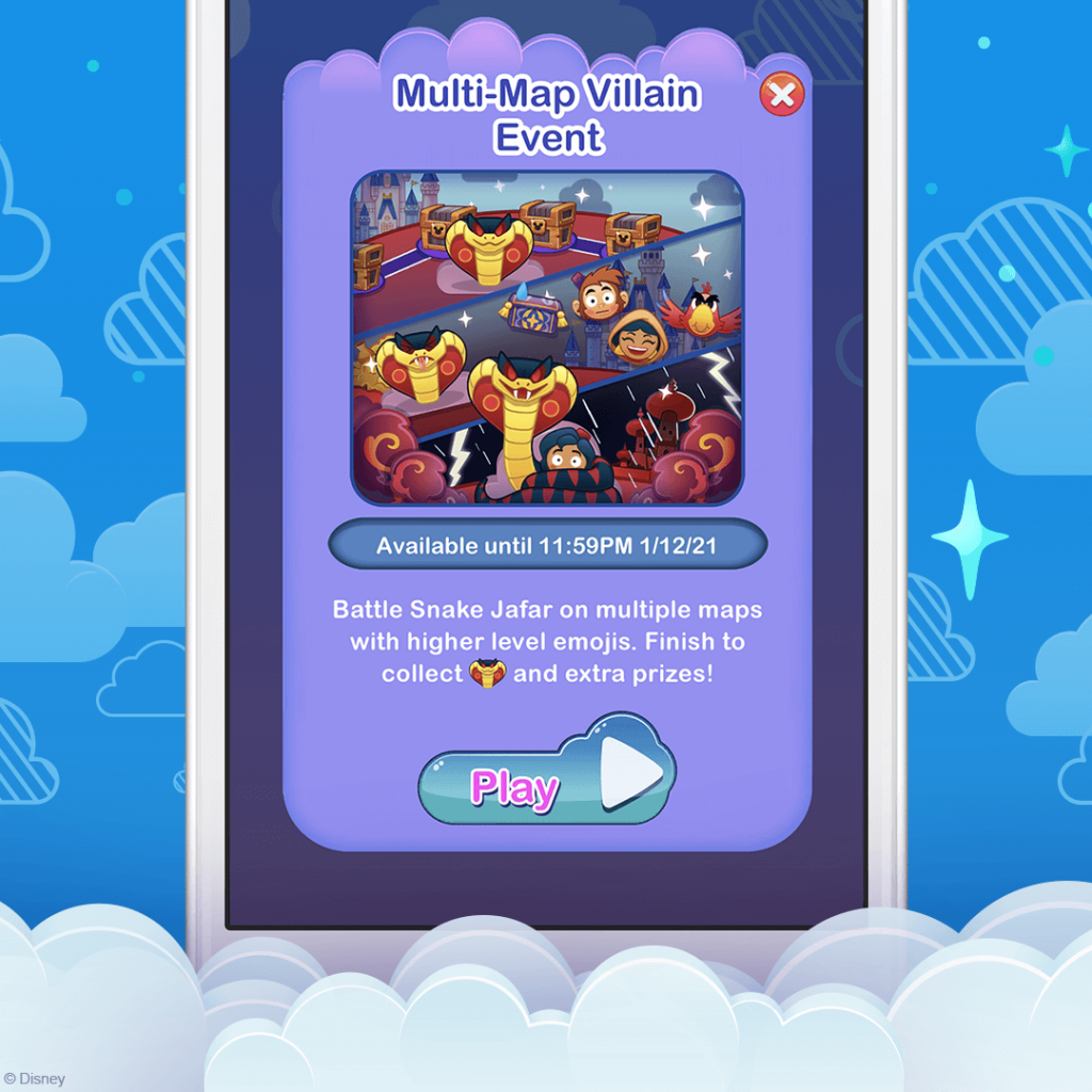 Multi-Map Villain Event, Disney Emoji Blitz