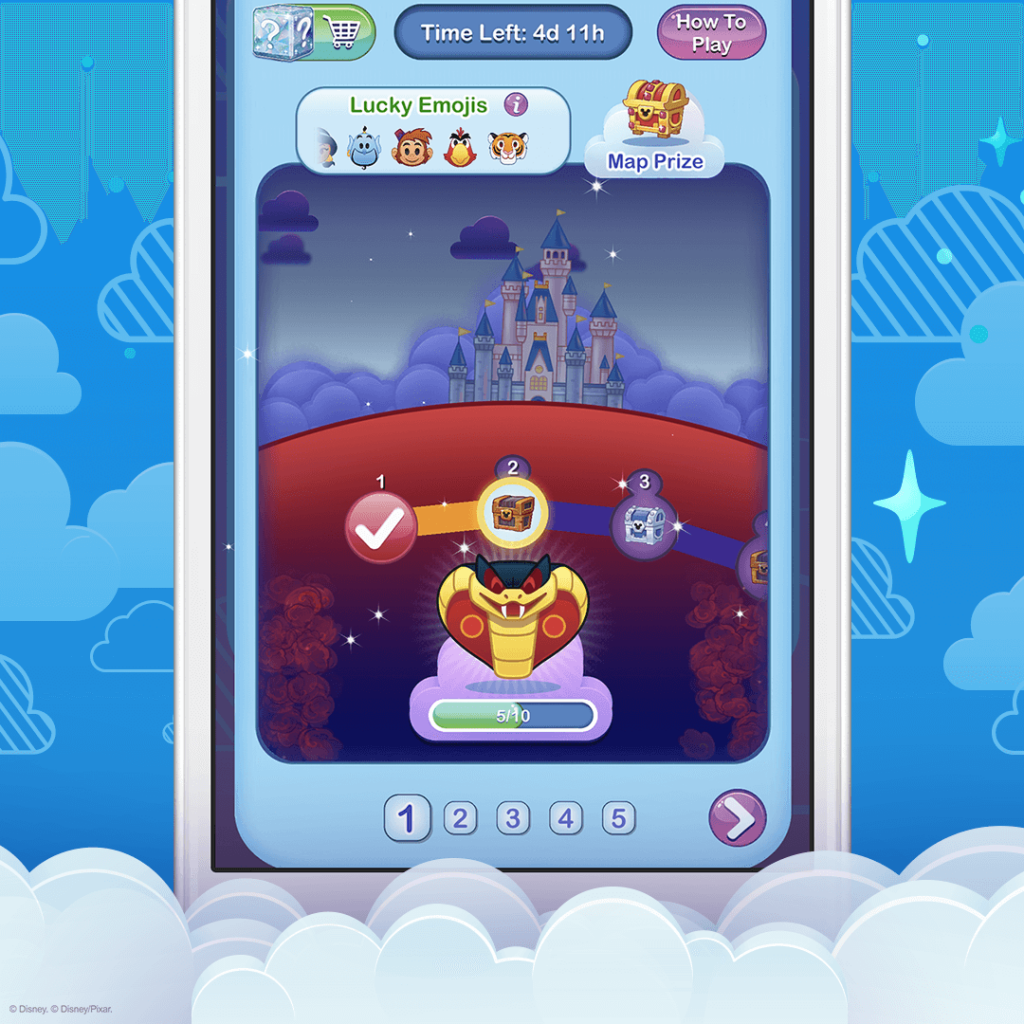 Villain Event Map, Disney Emoji Blitz