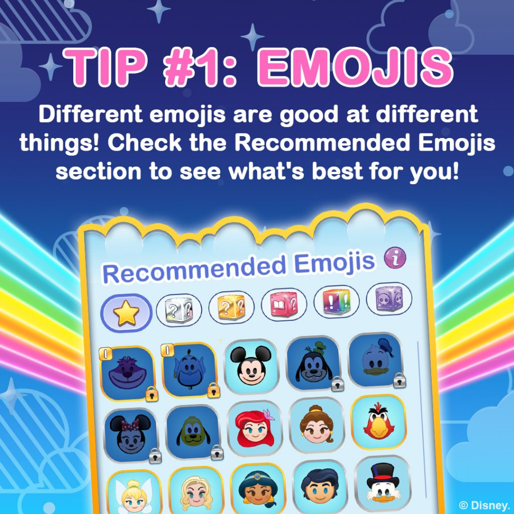 How to Play Disney Emoji Blitz, Tip 1